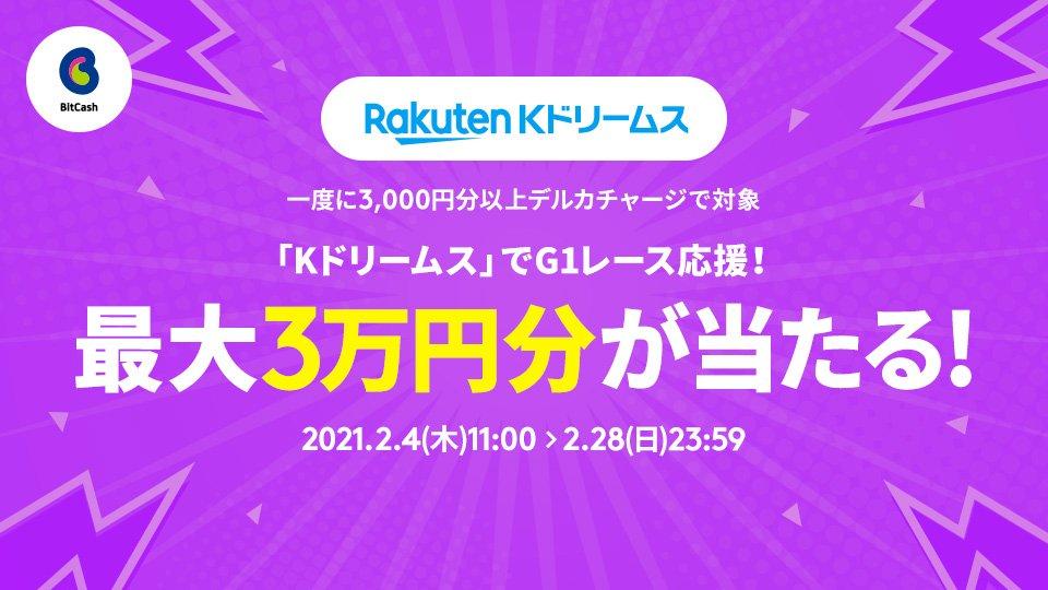 「Kドリームス」でG1レース応援!最大3万円分が当たる!